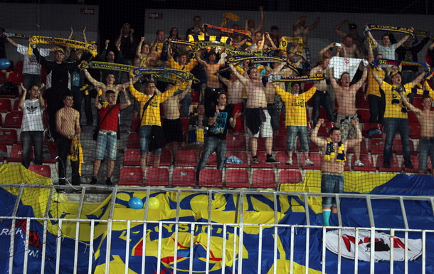 S Fanklubem do Příbrami s originální čepicí FC Vysočina